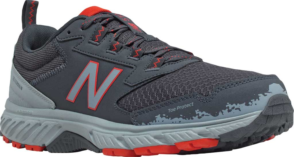 Men's New Balance 510v5 Trail Running Shoe, Outer Space/Cyclone/Velocity Red, large, image 1
