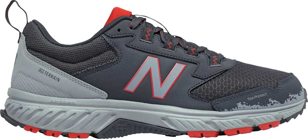 Men's New Balance 510v5 Trail Running Shoe, Outer Space/Cyclone/Velocity Red, large, image 2