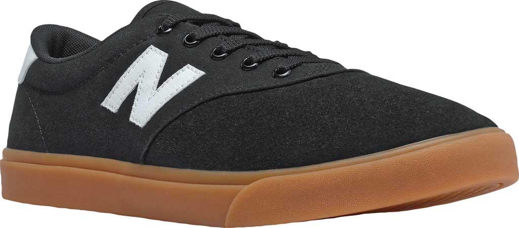 Men's New Balance All Coasts AM55v1 Sneaker, Black/White/Gum, large, image 1