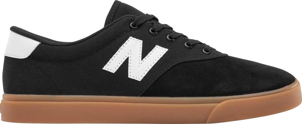 Men's New Balance All Coasts AM55v1 Sneaker, Black/White/Gum, large, image 2