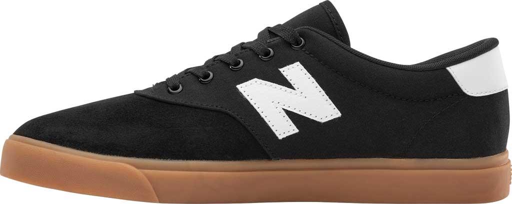 Men's New Balance All Coasts AM55v1 Sneaker, Black/White/Gum, large, image 3