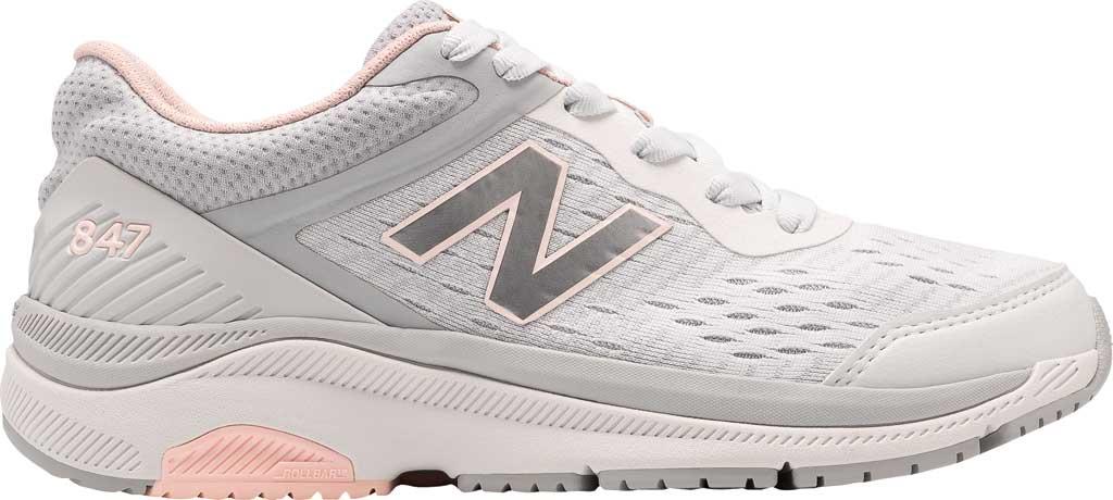 Women's New Balance 847v4 Walking Sneaker, Arctic Fox/Silver Mink/Peach Soda, large, image 1
