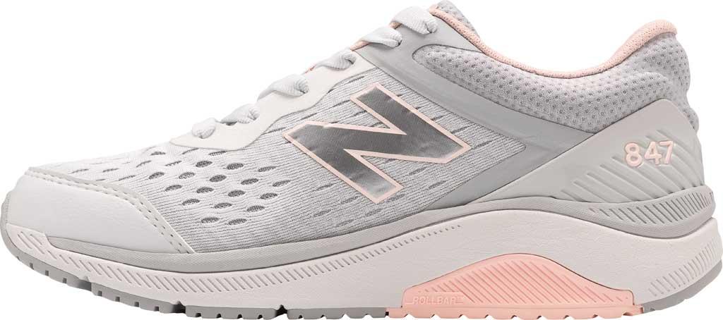 Women's New Balance 847v4 Walking Sneaker, Arctic Fox/Silver Mink/Peach Soda, large, image 2