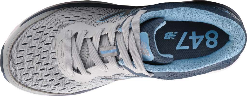 Women's New Balance 847v4 Walking Sneaker, Light Aluminum/Vintage Indigo/Team Carolina, large, image 3