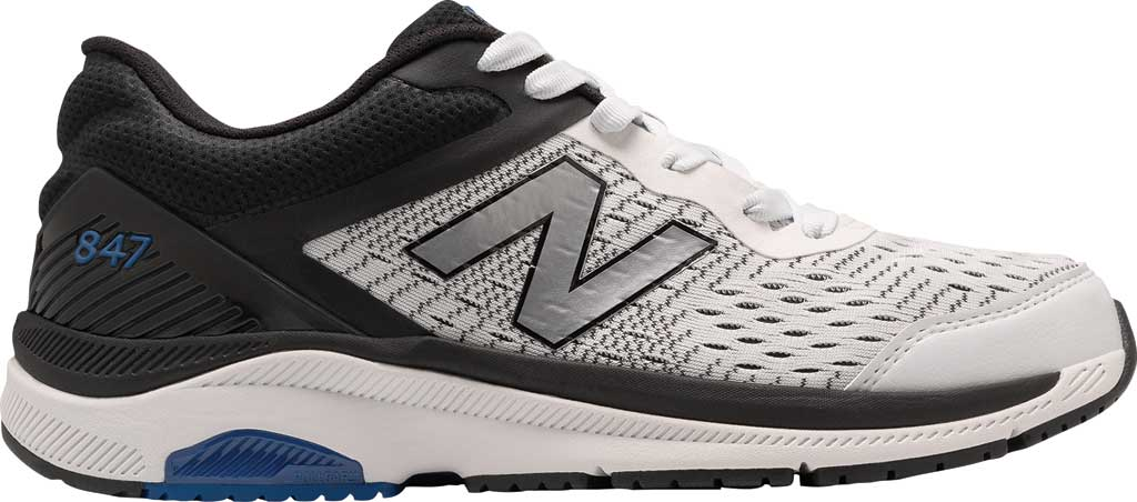 Men's New Balance 847v4 Walking Sneaker, Arctic Fox/Black/Team Royal, large, image 1