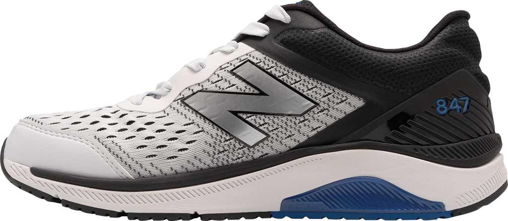 Men's New Balance 847v4 Walking Sneaker, Arctic Fox/Black/Team Royal, large, image 2