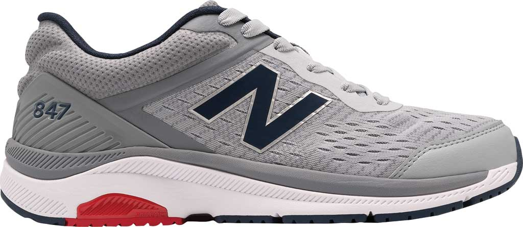 Men's New Balance 847v4 Walking Sneaker, Silver Mink/Gunmetal/Natural Indigo, large, image 1