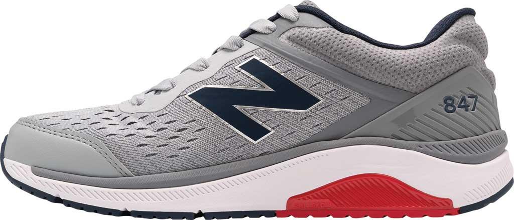 Men's New Balance 847v4 Walking Sneaker, Silver Mink/Gunmetal/Natural Indigo, large, image 2