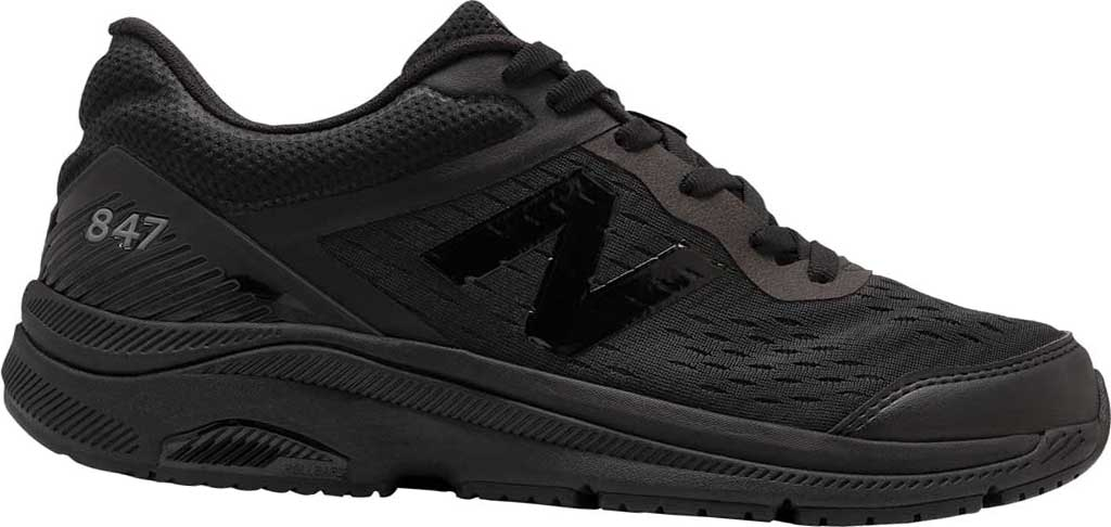 Men's New Balance 847v4 Walking Sneaker, Black/Black, large, image 1