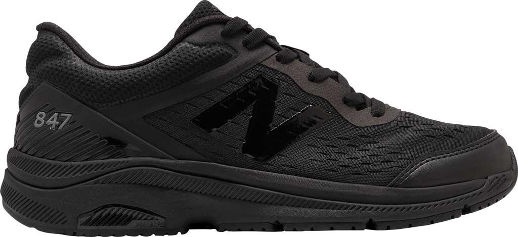 Men's New Balance 847v4 Walking Sneaker, Black/Black, large, image 2