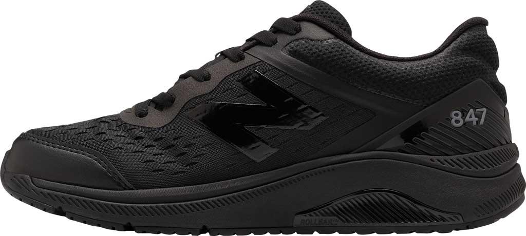 Men's New Balance 847v4 Walking Sneaker, Black/Black, large, image 3