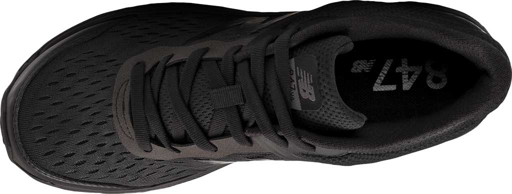 Men's New Balance 847v4 Walking Sneaker, Black/Black, large, image 4