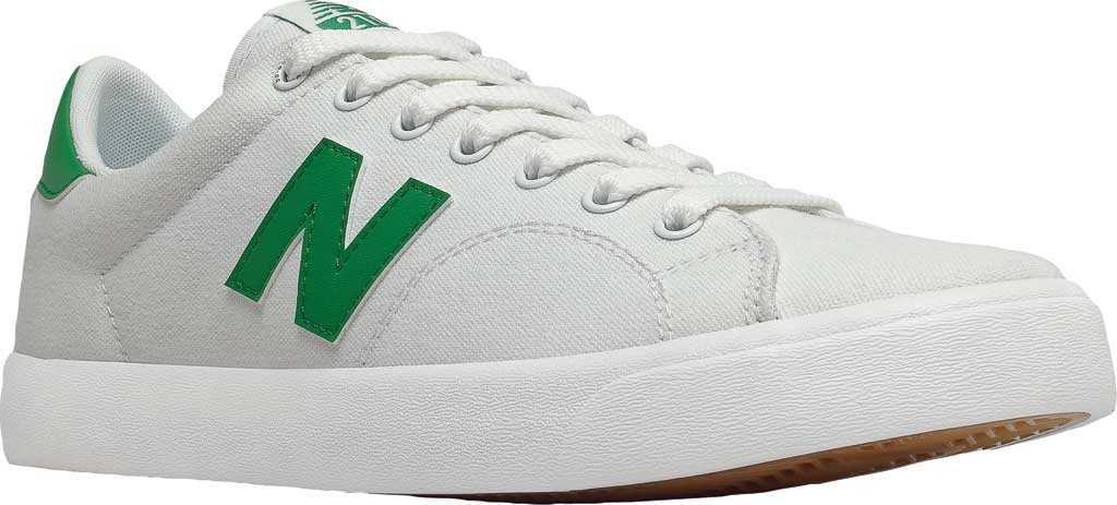 Men's New Balance All Coasts AM210 Mid Sneaker, White/Green, large, image 1