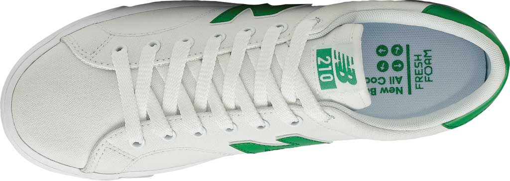 Men's New Balance All Coasts AM210 Mid Sneaker, White/Green, large, image 4