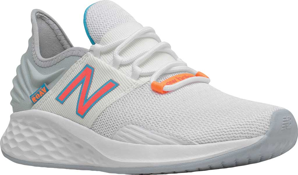 Women's New Balance Fresh Foam Roav v1 Running Shoe, White/Vivid Coral/Light Cyclone, large, image 1