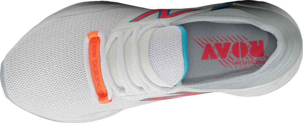 Women's New Balance Fresh Foam Roav v1 Running Shoe, White/Vivid Coral/Light Cyclone, large, image 4