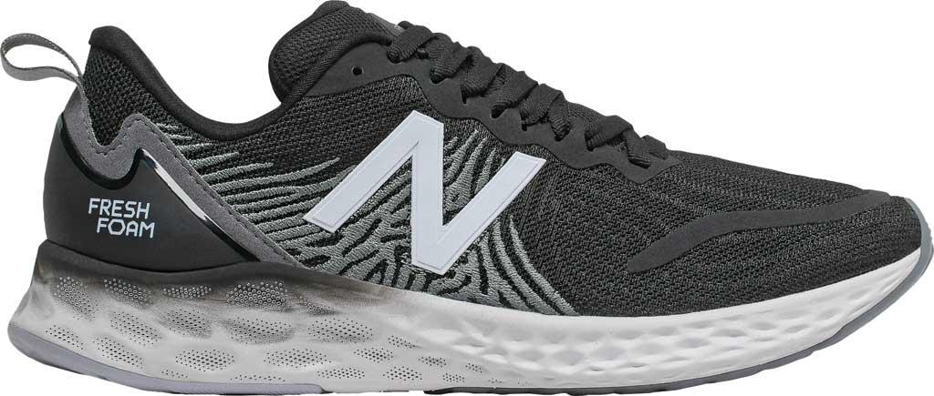 Women's New Balance Fresh Foam Tempo v1 Running Shoe, Black/Lead/Moondust, large, image 1