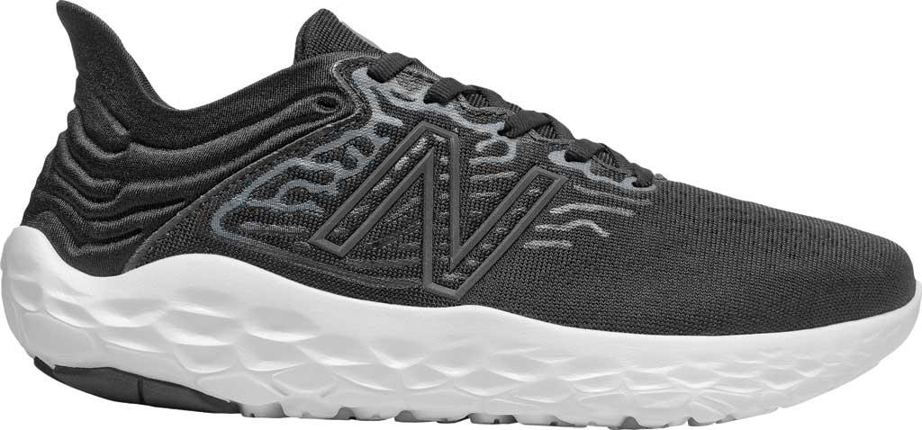 Women's New Balance Fresh Foam Beacon v3 Running Shoe, Black/White, large, image 1