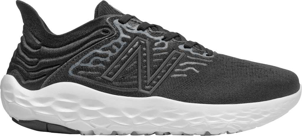 Women's New Balance Fresh Foam Beacon v3 Running Shoe, Black/White, large, image 2