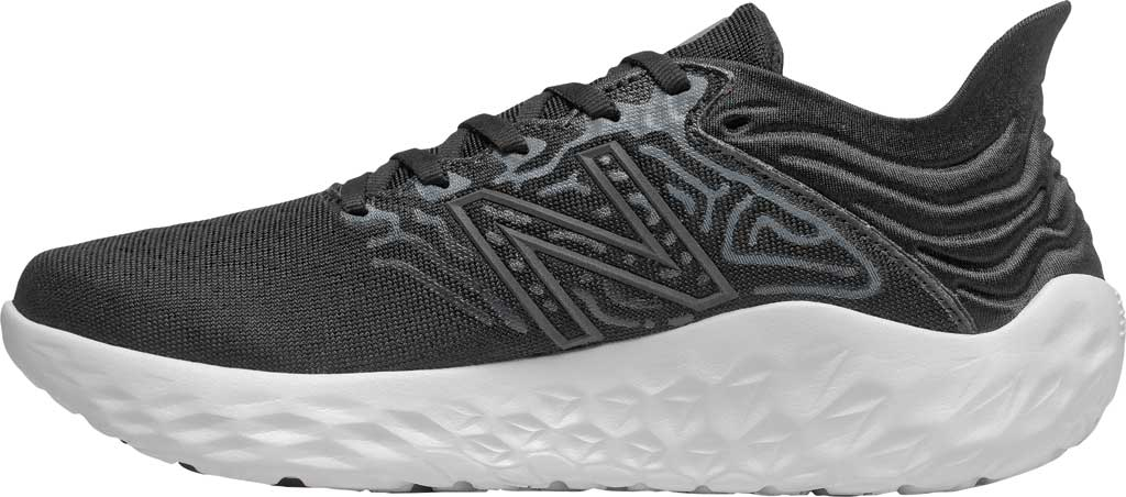 Women's New Balance Fresh Foam Beacon v3 Running Shoe, Black/White, large, image 3