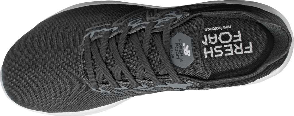 Women's New Balance Fresh Foam Beacon v3 Running Shoe, Black/White, large, image 4