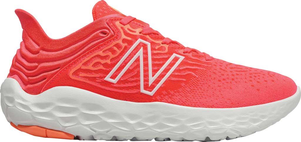 Women's New Balance Fresh Foam Beacon v3 Running Shoe, Star Glo/Bleached Lime Glo, large, image 2