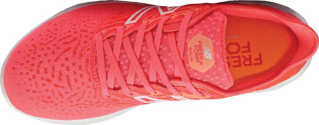 Women's New Balance Fresh Foam Beacon v3 Running Shoe, Star Glo/Bleached Lime Glo, large, image 4