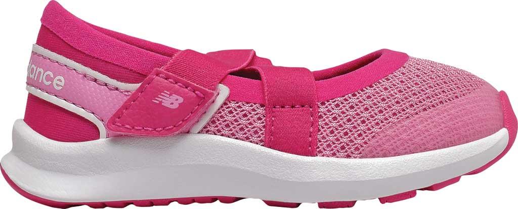 Infant Girls' New Balance Nergize Sport Mary Jane, Candy Pink/Exhuberant Pink, large, image 2