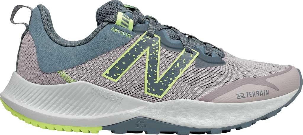 Women's New Balance DynaSoft Nitrelv4 Trail Running Sneaker, Logwood/Ocean Grey/Bleached Lime Glo, large, image 2
