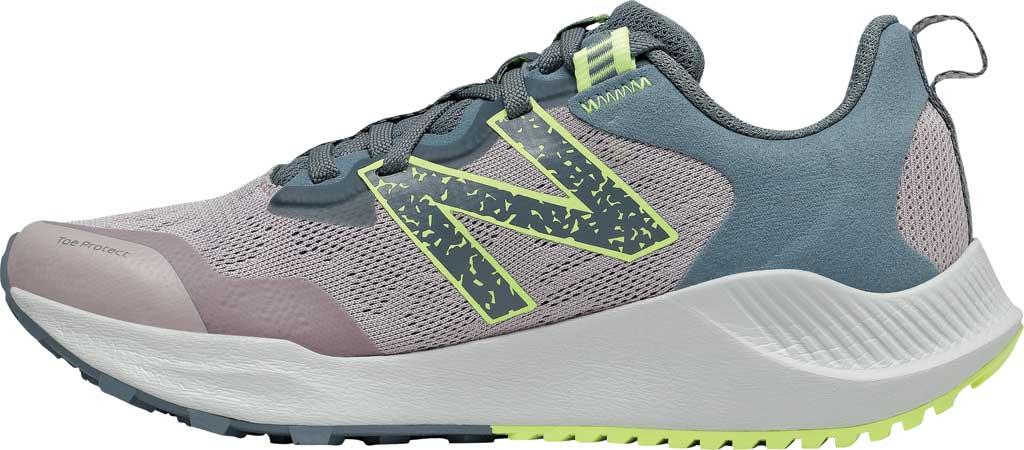 Women's New Balance DynaSoft Nitrelv4 Trail Running Sneaker, Logwood/Ocean Grey/Bleached Lime Glo, large, image 3