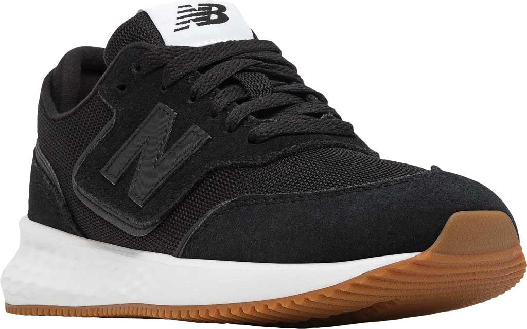 Women's New Balance X70v1 Fresh Foam Sneaker, Black/Black/Munsell White, large, image 1