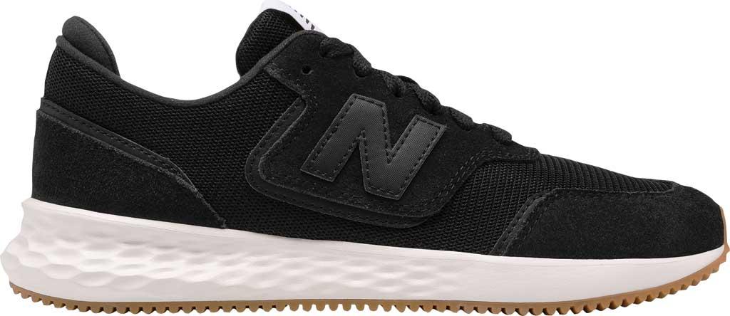 Women's New Balance X70v1 Fresh Foam Sneaker, Black/Black/Munsell White, large, image 2