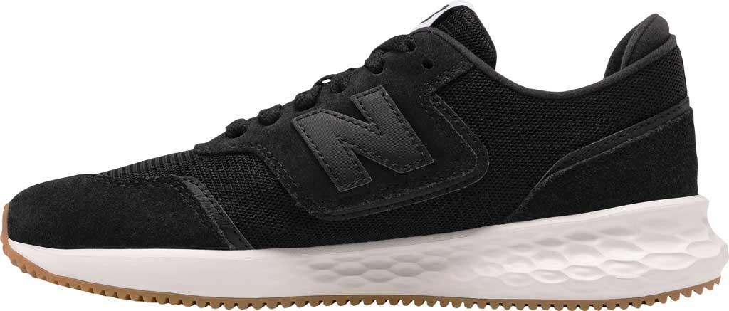 Women's New Balance X70v1 Fresh Foam Sneaker, Black/Black/Munsell White, large, image 3