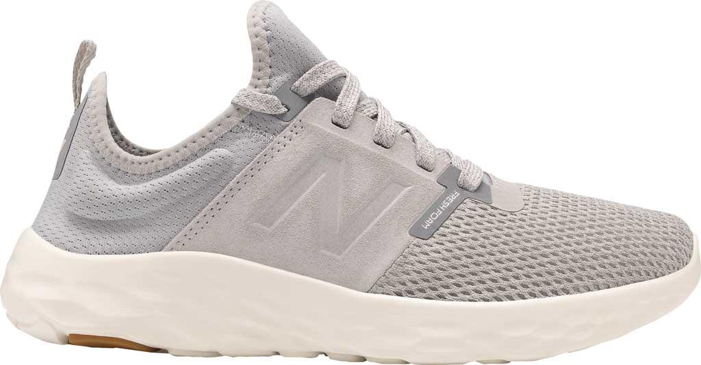 Women's New Balance Fresh Foam Sport v2 Running Shoe, Light Aluminum/Steel, large, image 2