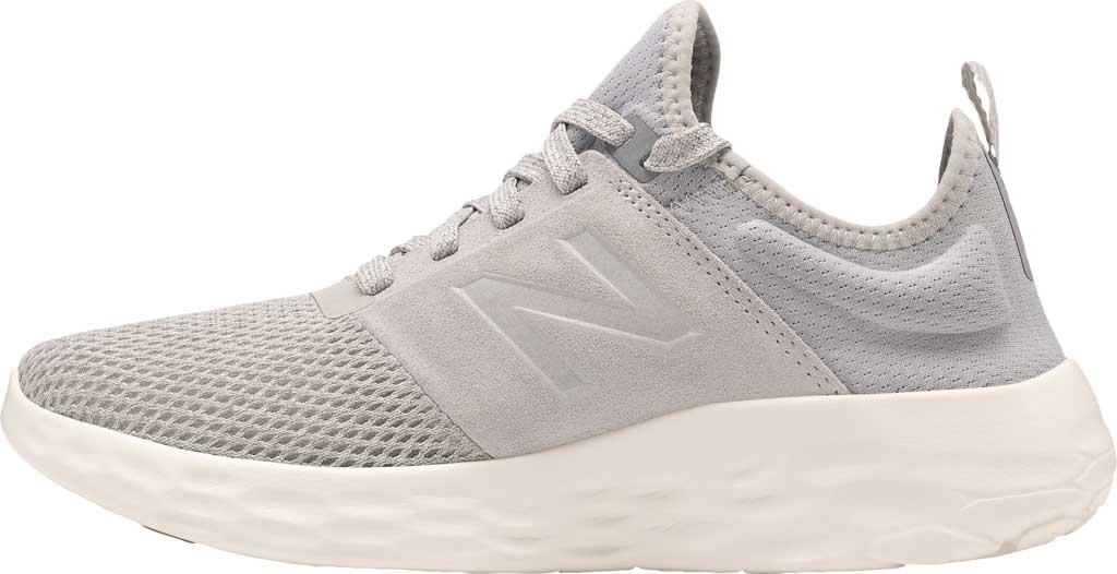 Women's New Balance Fresh Foam Sport v2 Running Shoe, Light Aluminum/Steel, large, image 3