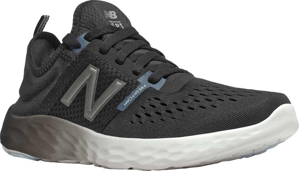 Women's New Balance Fresh Foam Sport v2 Running Shoe, Black/Thunder/UV Glo, large, image 1