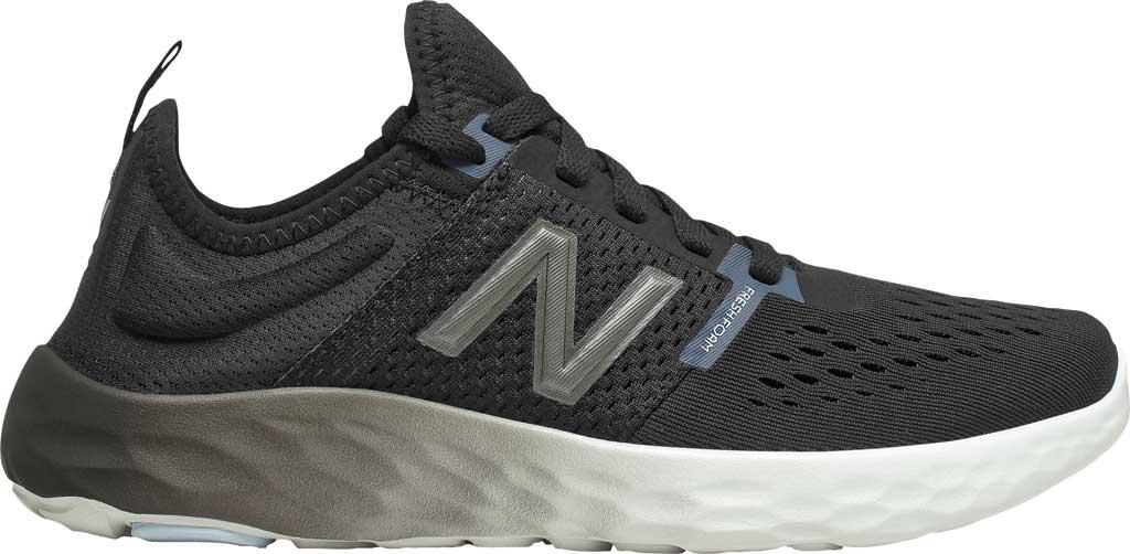 Women's New Balance Fresh Foam Sport v2 Running Shoe, Black/Thunder/UV Glo, large, image 2