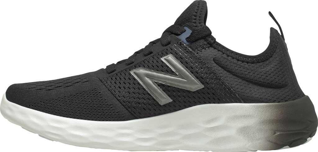 Women's New Balance Fresh Foam Sport v2 Running Shoe, Black/Thunder/UV Glo, large, image 3