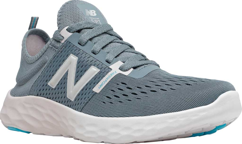 Women's New Balance Fresh Foam Sport v2 Running Shoe, Ocean Grey/Logwood/Silver, large, image 1