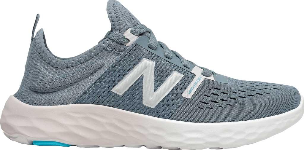 Women's New Balance Fresh Foam Sport v2 Running Shoe, Ocean Grey/Logwood/Silver, large, image 2