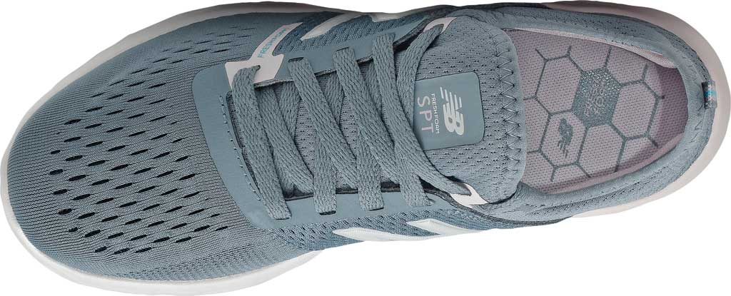 Women's New Balance Fresh Foam Sport v2 Running Shoe, Ocean Grey/Logwood/Silver, large, image 4