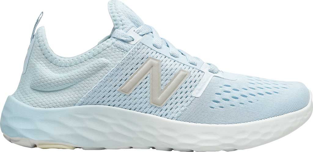 Women's New Balance Fresh Foam Sport v2 Running Shoe, UV Glo/Star Glo/Silver, large, image 2