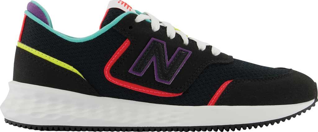Women's New Balance X-70 Sneaker, Black/Vivid Coral, large, image 2
