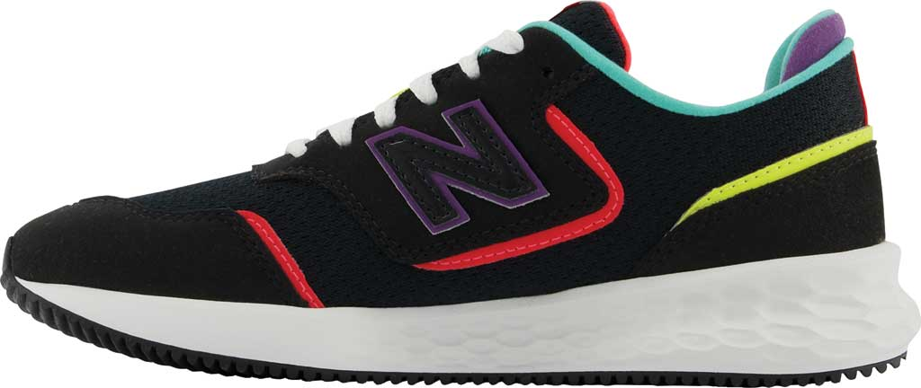 Women's New Balance X-70 Sneaker, Black/Vivid Coral, large, image 3