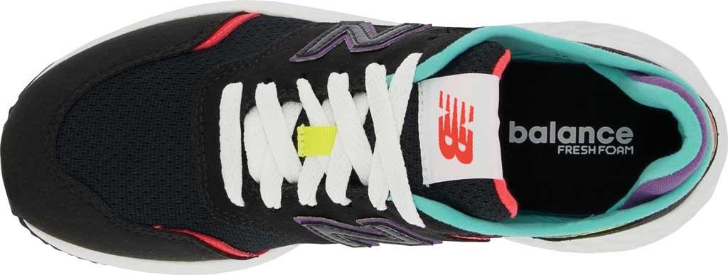 Women's New Balance X-70 Sneaker, Black/Vivid Coral, large, image 4