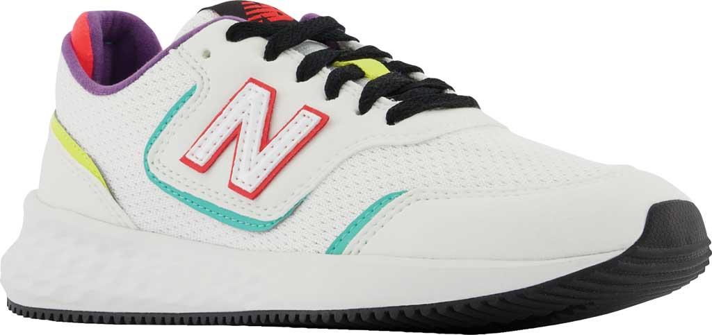 Women's New Balance X-70 Sneaker, Munsell White/Summer Jade, large, image 1