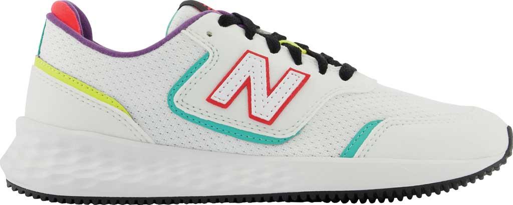 Women's New Balance X-70 Sneaker, Munsell White/Summer Jade, large, image 2