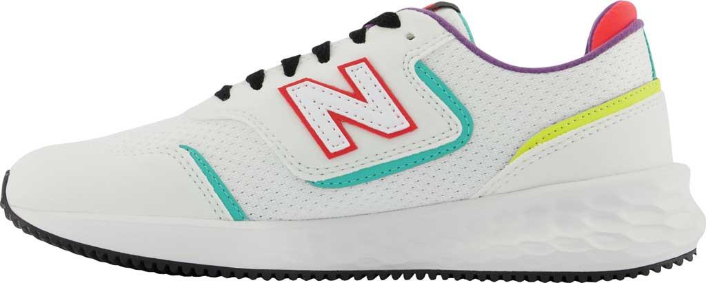 Women's New Balance X-70 Sneaker, Munsell White/Summer Jade, large, image 3