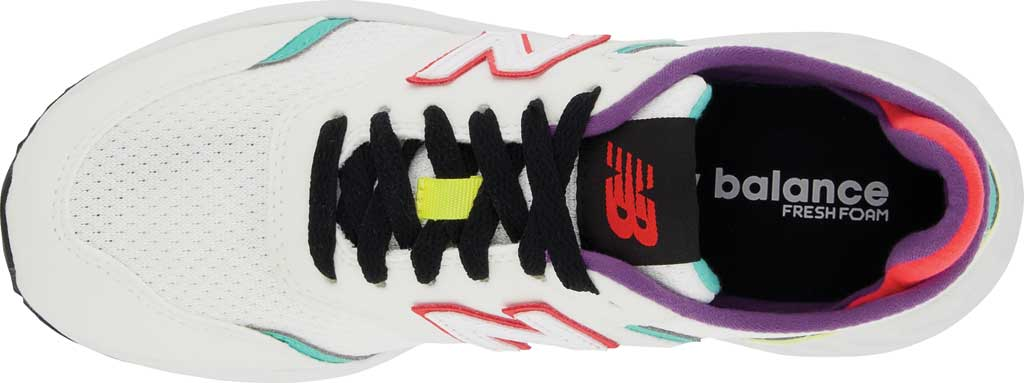 Women's New Balance X-70 Sneaker, Munsell White/Summer Jade, large, image 4
