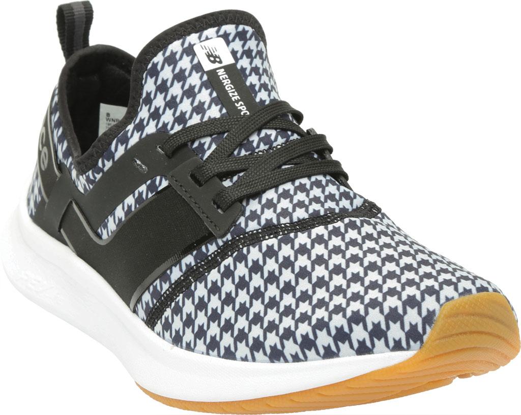 Women's New Balance Nergize Sport Athleisure Sneaker, Black/Munsell White/Plaid, large, image 1